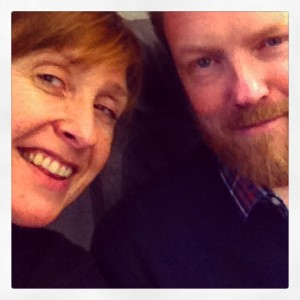 Selfie on Lufthansa Oslo-Frankfurt